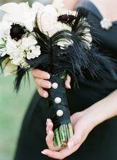 black & white bouquet
