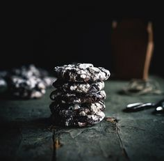 Mexican Chocolate Crinkle Cookies by carey nershi, via Flickr