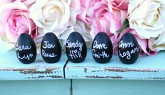 easter eggs with chalkboard paint