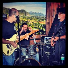 Blues band ar Neptune Cigar Superstore in Miami.