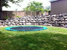 Another sunken trampoline option