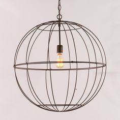 dining rooms, dine room, lighting, light fixtures, wire globe, hous, globe lantern, kitchen, live room