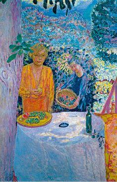 """By Pierre Bonnard, 1920-1939, """"La Terrasse à Vernon"""", detail."""