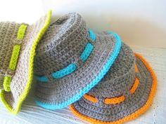 Crochet Dreamz: Boy's Sun Hat Crochet Pattern, Newborn to 10 Years, or for girls