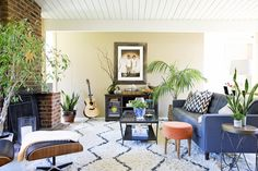 Hope and Pete's Bohemian Modern Abode plant, house tours, wool rugs
