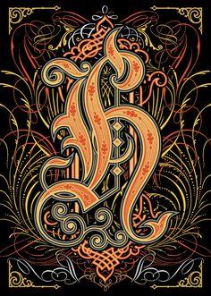 """H"" for Alphabetica exhibition by Bobby Haiqalsyah, via Behance"