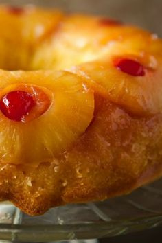 Making an upside-down cake in a bundt pan makes it extra beautiful!