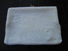 Vintage White Beaded Bag 1950s by truthorwear on Etsy, $45.00