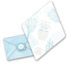 Under the Sea Seal and Send Wedding Invitation by David's Bridal. #beachweddings
