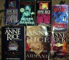 I love Anne Rice's entire collection. These are a few of her vampire novels, I recommend checking them out!