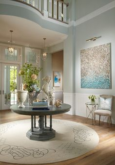 "Benjamin Moore Color...ocean air."" A soft subtle shade of blue that reminds one of the ocean."