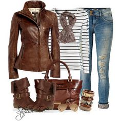 Love the brown jacket, and boots. http://www.stylisheve.com/brown-winter-2013-outfits-for-women-by-stylish-eve/