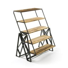Reclaimed Wood Convertible Shelf Table | dotandbo.com