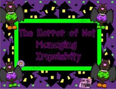 The Horror of Not Managing Impulsivity SMARTboard lesson from Little Miss Friday on TeachersNotebook.com -  (17 pages)  - Eye opening lesson for your impulsive and self-control challenged students.