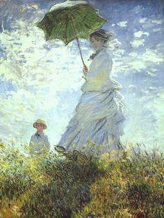 Woman with a parasol ~ Claude Monet