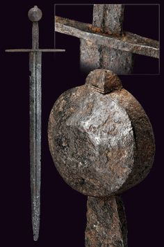 A knightly sword  provenance:Europe dating: 12th Century