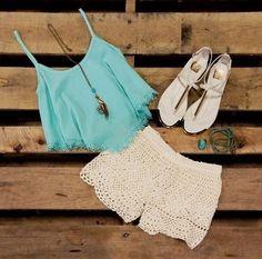Zeliha's Blog: Crochet Lace Shorts
