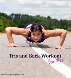 Get the lean arms and a sexy back you've always wanted! Try this woman-specific workout to help get you there. #exercise #fitness #workout #eatclean