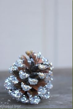 Glitter Pinecones...add some sparkle to your tree or table!