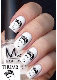 Justin Bieber nail stickers