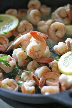 Sauteed Lemon & Garlic Shrimp