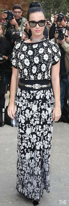 Katy Perry at the Chanel Fashion Show during Paris Fashion Week