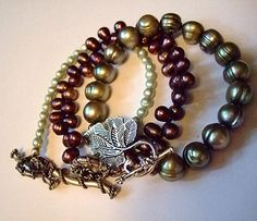 3 Strands of Pearls Bracelets by Mere Trinkets, $39.00 Plus:  Free gift of 4th pearl bracelet and matching earrings.