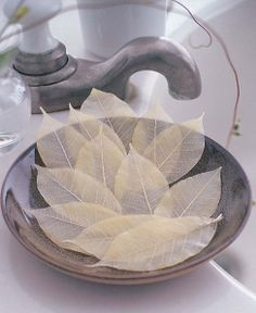 SoapLeaves. Beautiful single-use soaps that are made with genuine dried and cured mango tree leaves (by Design Ideas).