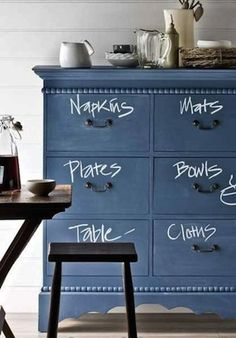 DIY Painted Chalkboard Furniture