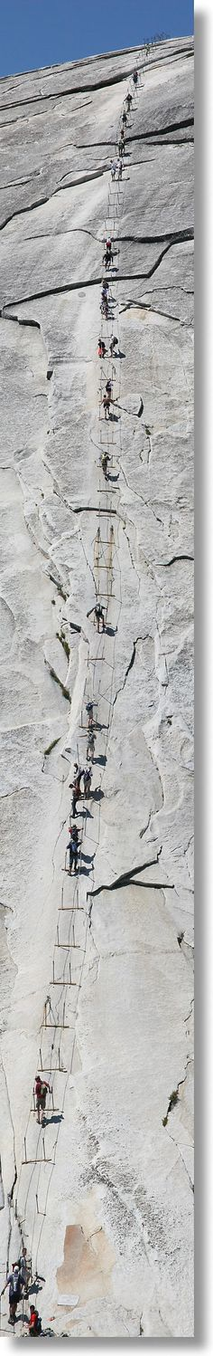 The Half Dome cables, from top to bottom. Yosemite