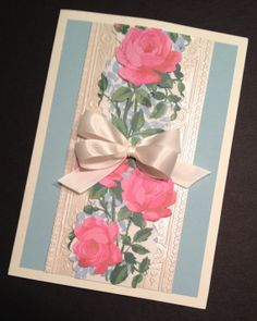 Sweet Floral Valentine's Day or All Occasion Card with Anna Griffin Papers
