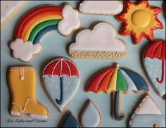 Raindrops & Rainbows COOKIES