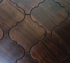 Moroccan wood floor tiles.