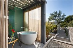 Open #bathroom with a beautiful view