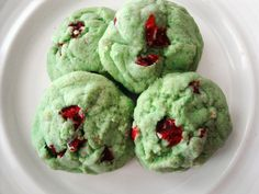 pistachio cherry almond cookies