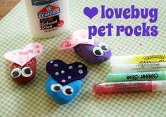 Lovebug pet rocks // Let's Explore
