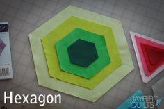Tutorials for using the Hex N More ruler by jaybirdquilts. Includes Hexagons, 60-degree triangles, Half-Hex, and Jewel shape