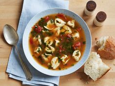 Spinach Tortellini Soup Recipe : Food Network Kitchen : Food Network - FoodNetwork.com