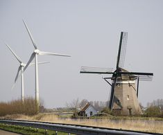 windmills-old and new together