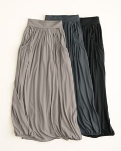 Maxi skirt with pockets from Garnet Hill $88
