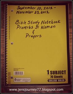Jen's Journey: Bible Study Notebook - also other amazing posts on bible study organization