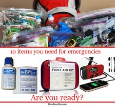 Be Prepared – For Anything! 10 must needed items! #howdoesshe emergencypreparedness howdoesshe.com