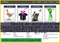 Using an accelerated learning program with an unschooling approach
