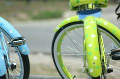 bicycles, dot bicycl, polka dots, paint bicycl, dot bike, painted bicycle, polkadot, lime, bike ride