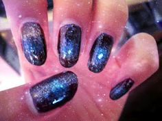 Andreaschoice on pinterest space nails frizzy hair for Outer space nail design