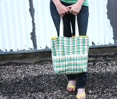 Noodlehead: summer madras tote  tutorial