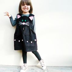 Lucky Cat Playdress  by Wild Things Funky Little Dresses