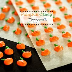 Pumpkin Candy Toppers - Simply sated