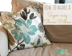DIY Super-Easy Throw Pillows {The Turquoise Home} #diy