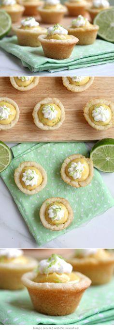 Key Lime Pie Cookie Cups #keylime #pie #cookie